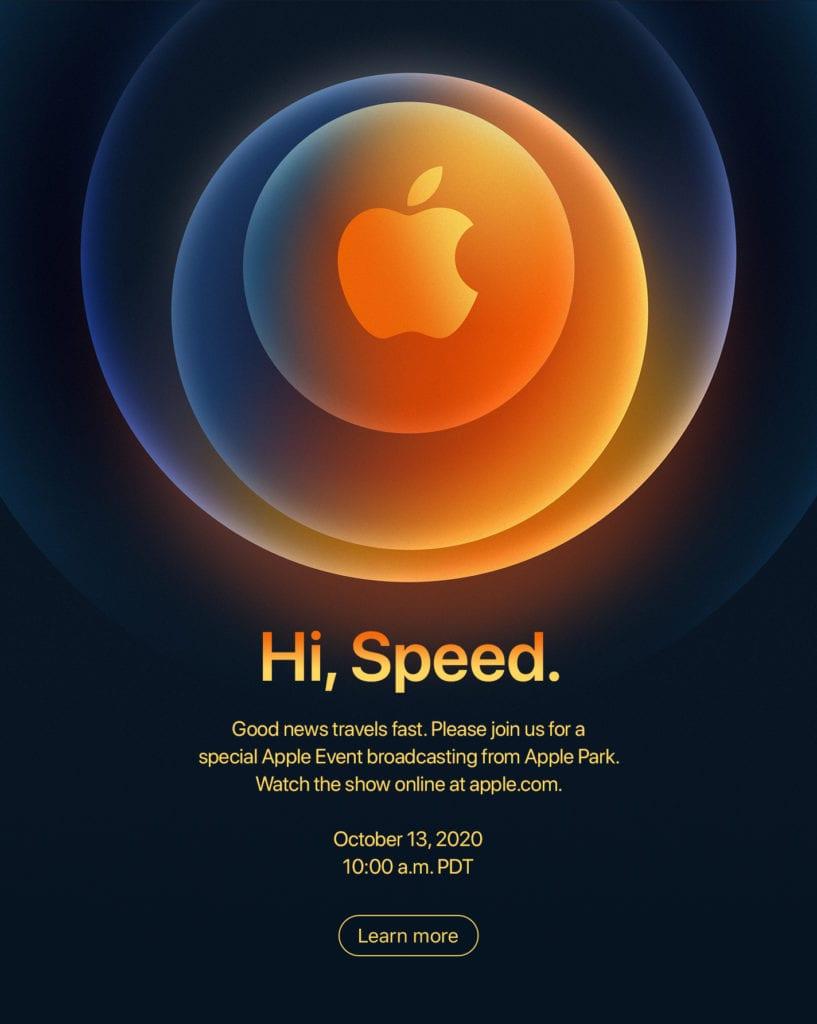 Apple October 13 Event Invitation